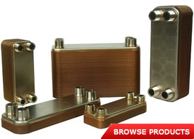 99.9% pure copper brazed 316L stainless steel heat exchangers
